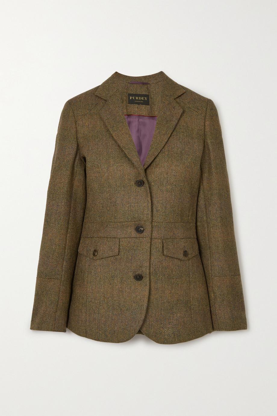 Purdey Wool-tweed blazer