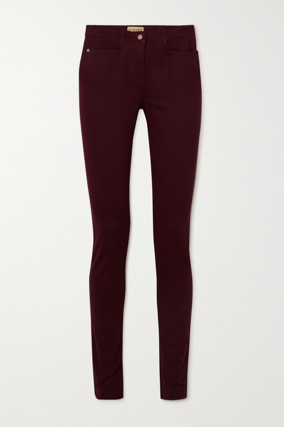 Purdey Halbhohe Jeans mit schmalem Bein