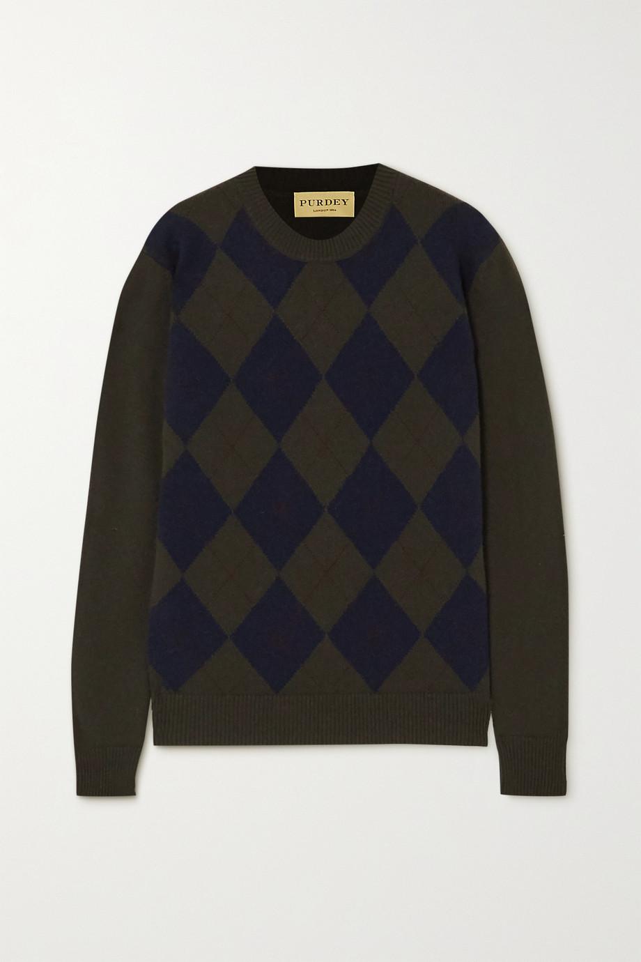 Purdey Argyle cashmere sweater