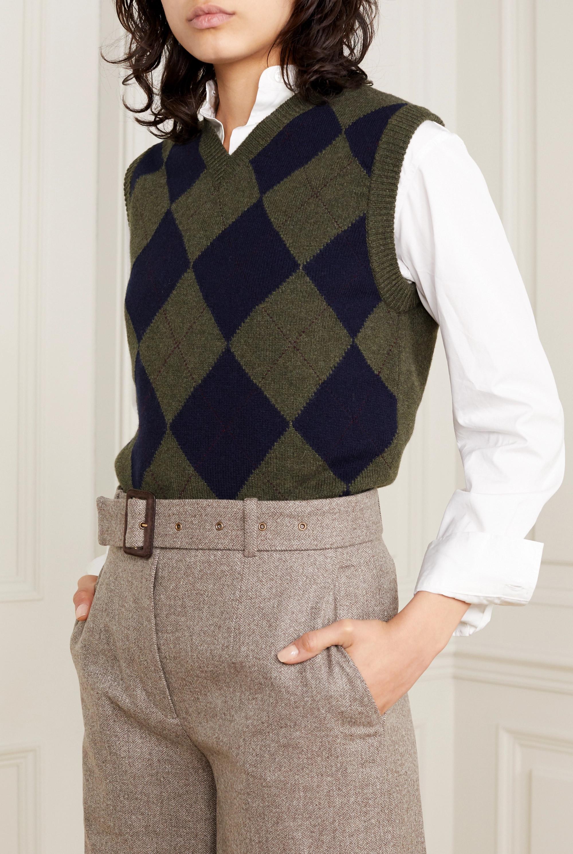 Purdey Argyle ärmelloser Pullover aus Kaschmir