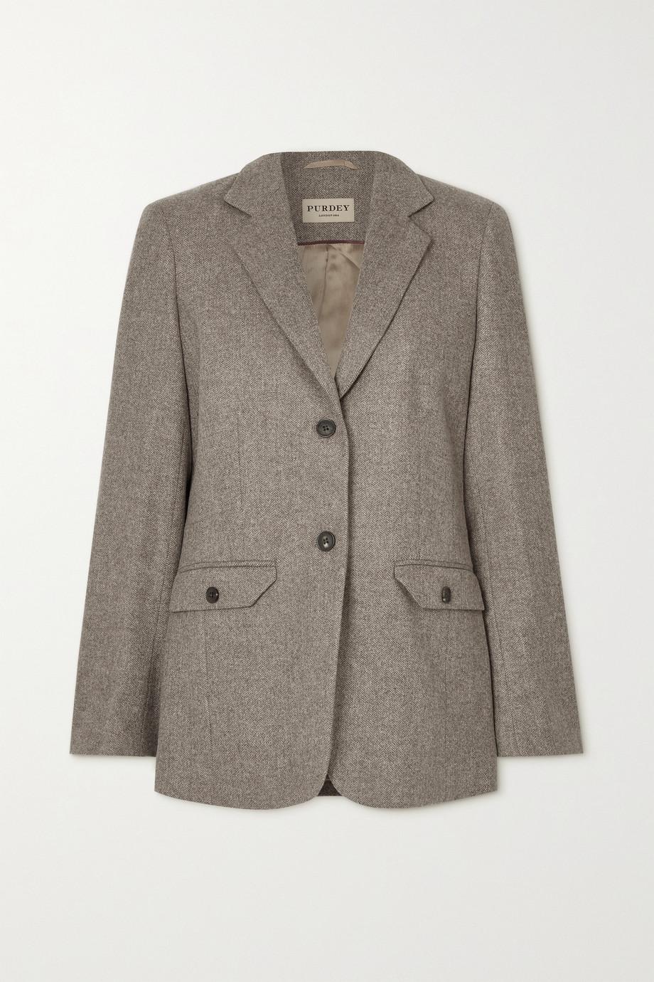 Purdey Herringbone wool blazer