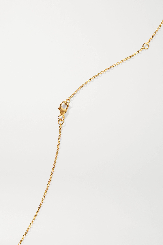 Pacharee Collier en plaqué or, saphirs et perles Bloom