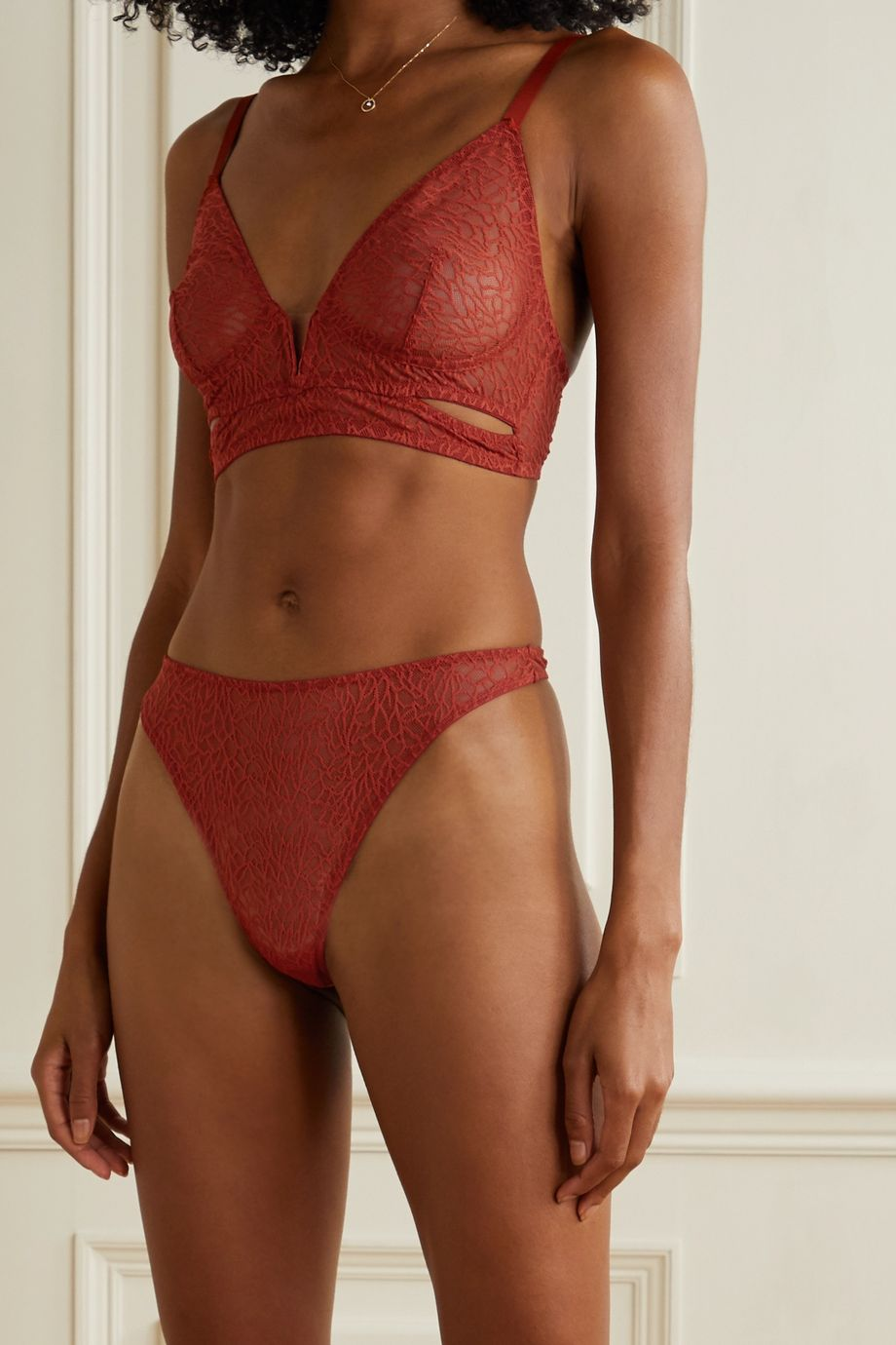 ELSE Zoe String aus Stretch-Mesh