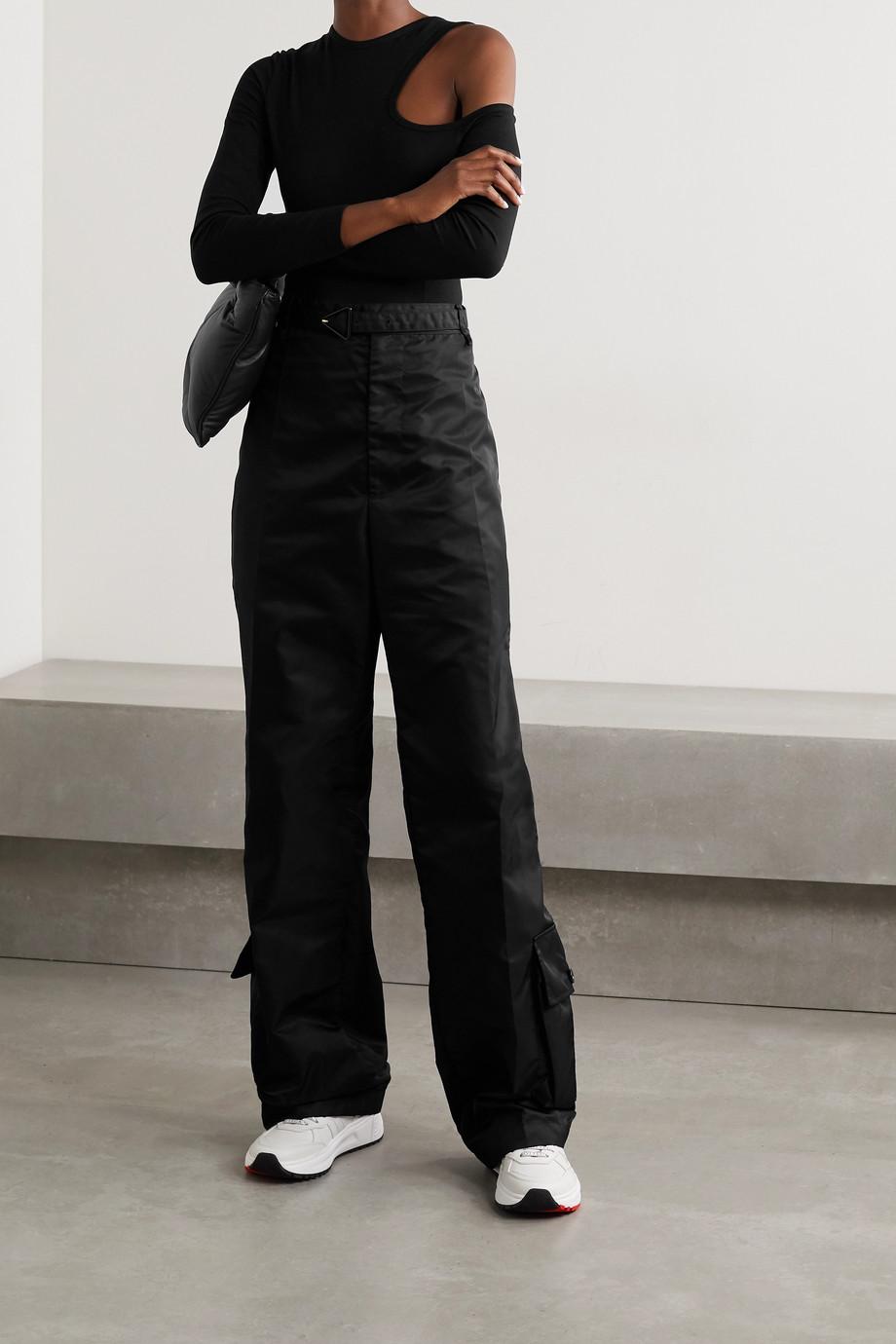 Ninety Percent + NET SUSTAIN cutout stretch-TENCEL jersey bodysuit