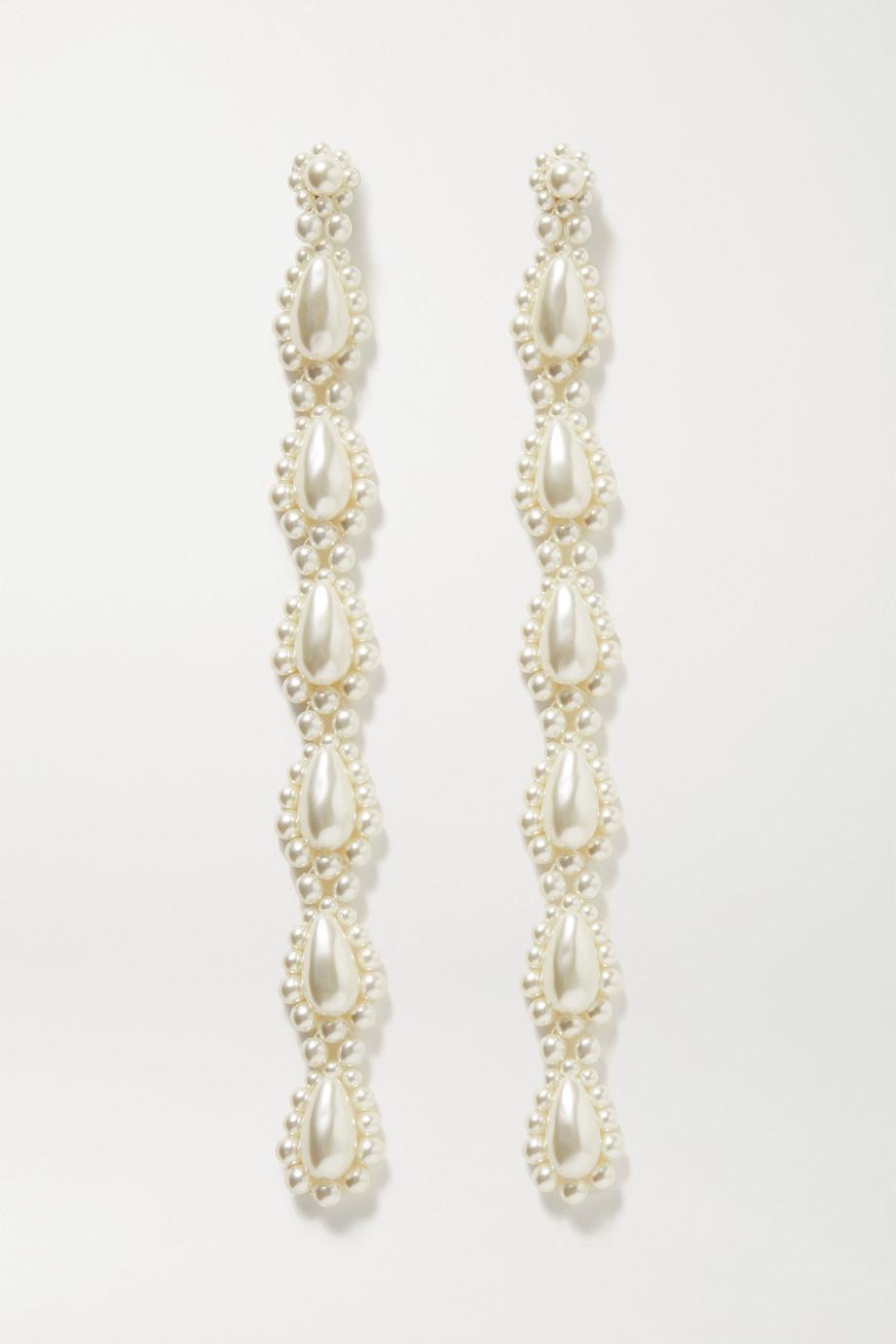 Simone Rocha Gold-tone faux pearl earrings