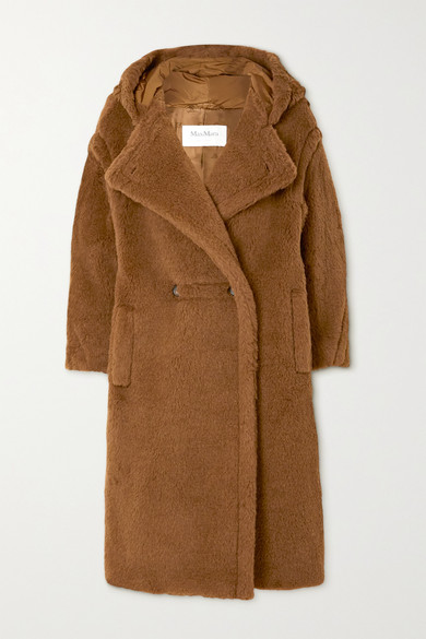 Max Mara - Teddy Bear Icon Hooded Alpaca And Wool-blend Coat - Brown