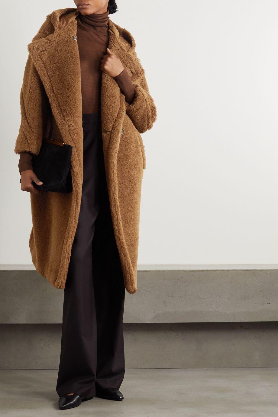 Max Mara Manteau à capuche en alpaga et laine mélangés Teddy Bear Icon
