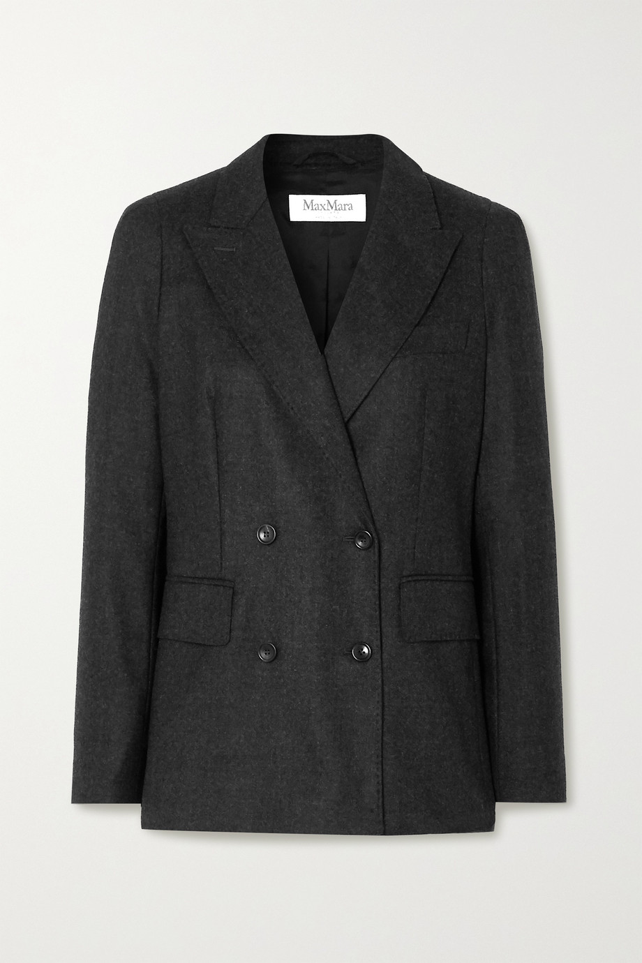 Max Mara Oblio double-breasted mélange wool-blend blazer
