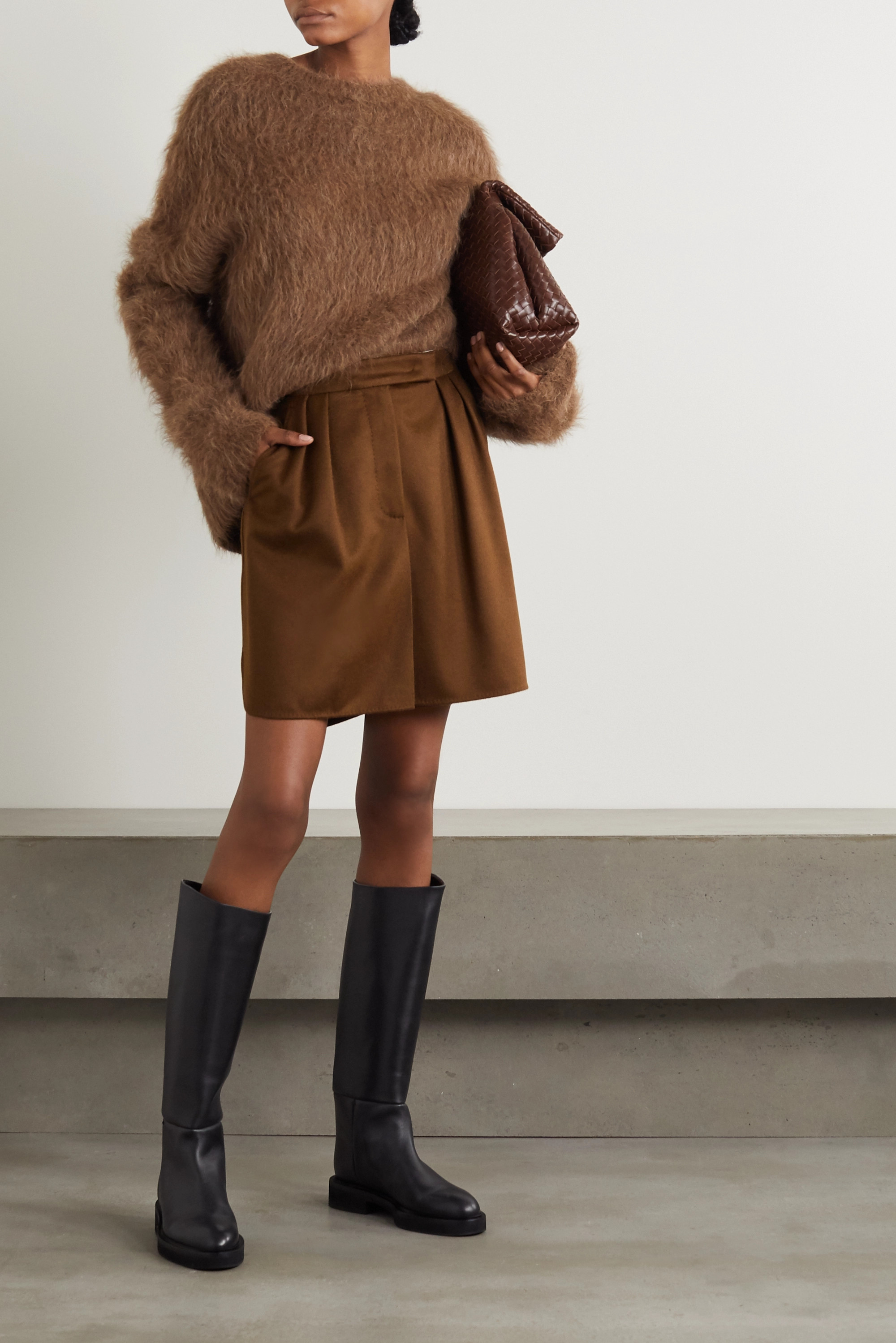 Max Mara Zorro camel hair mini skirt