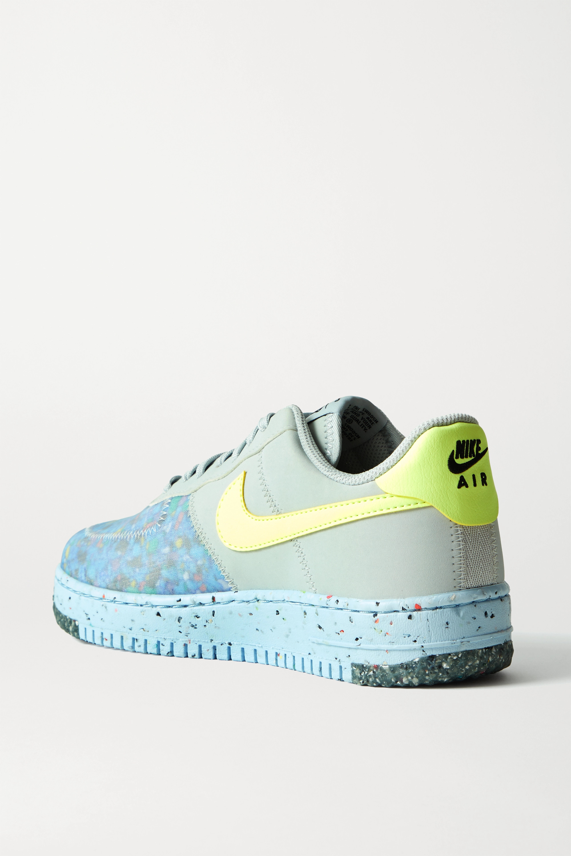 Nike Air Force 1 Crater faux leather and mesh sneakers