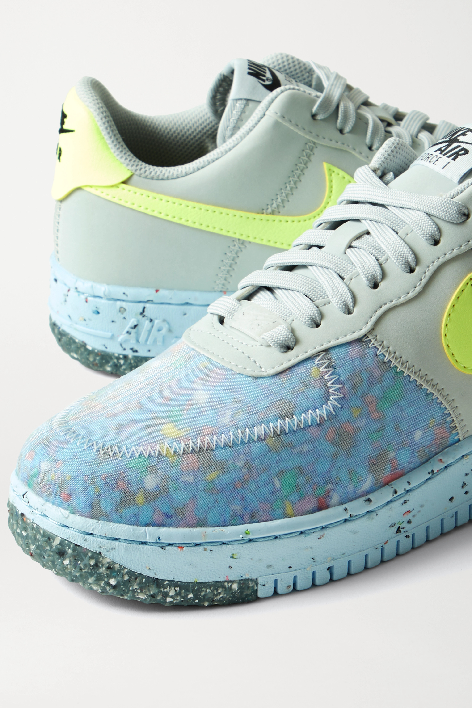 Gray Air Force 1 Crater faux leather