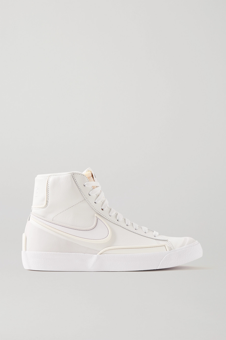 Nike Blazer Mid '77 Infinite textured-leather high-top sneakers