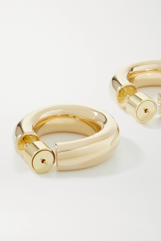 Jennifer Fisher Kevin gold-plated hoop earrings