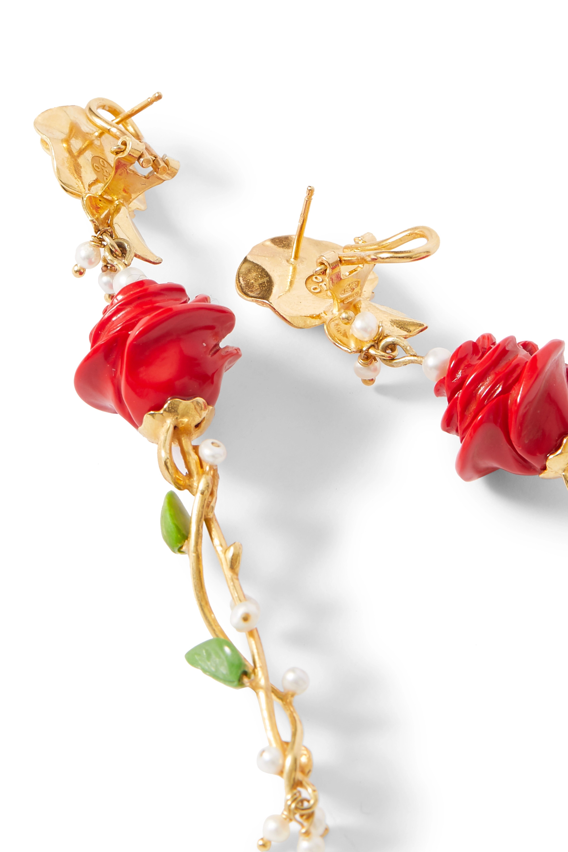 Of Rare Origin The Prosecco gold vermeil multi-stone earrings