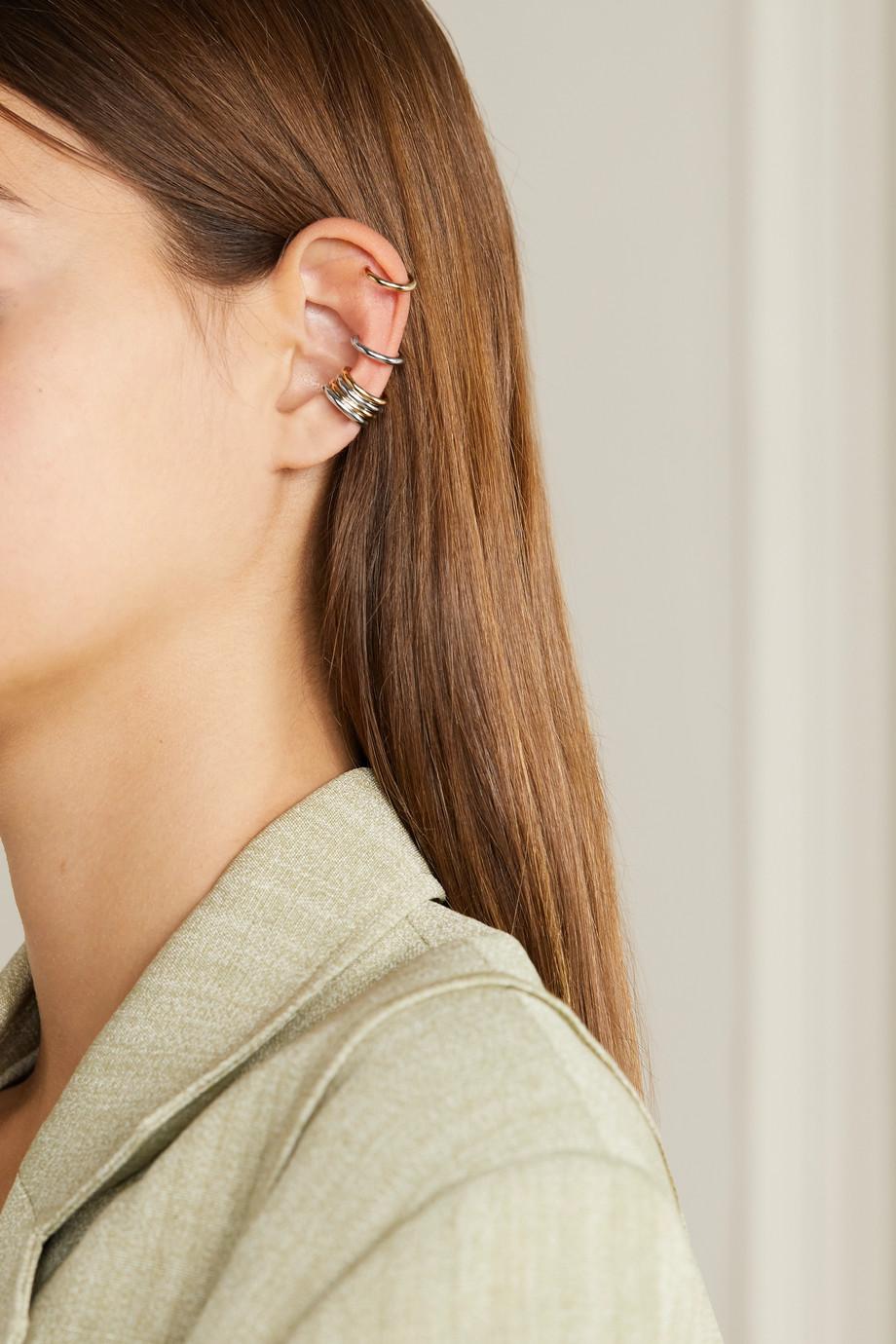 Jennifer Fisher Thread Set aus sechs vergoldeten und versilberten Ear Cuffs