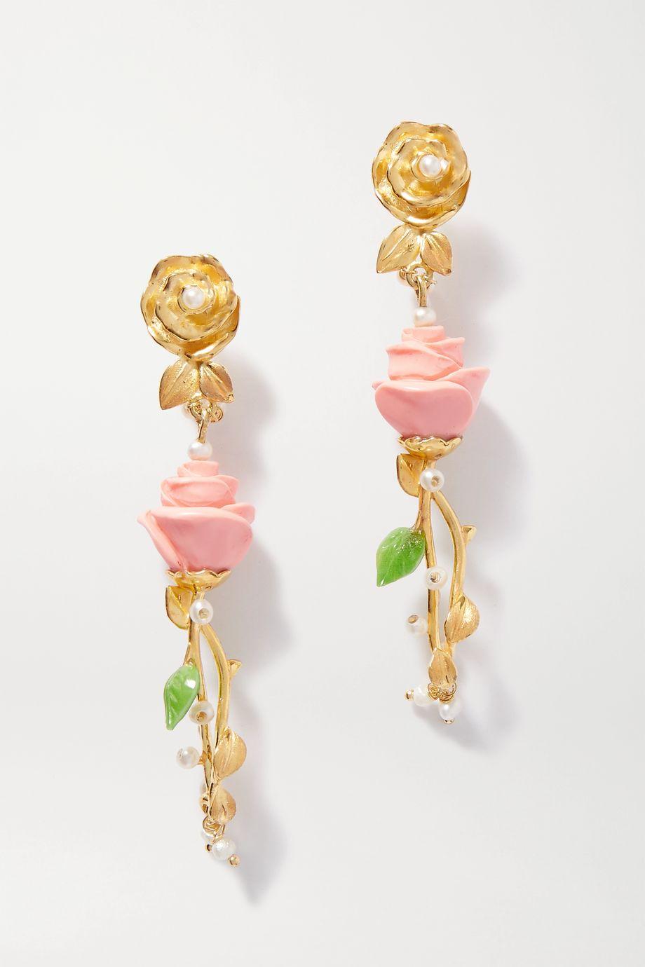 Of Rare Origin The Bellinigold vermeil multi-stone earrings