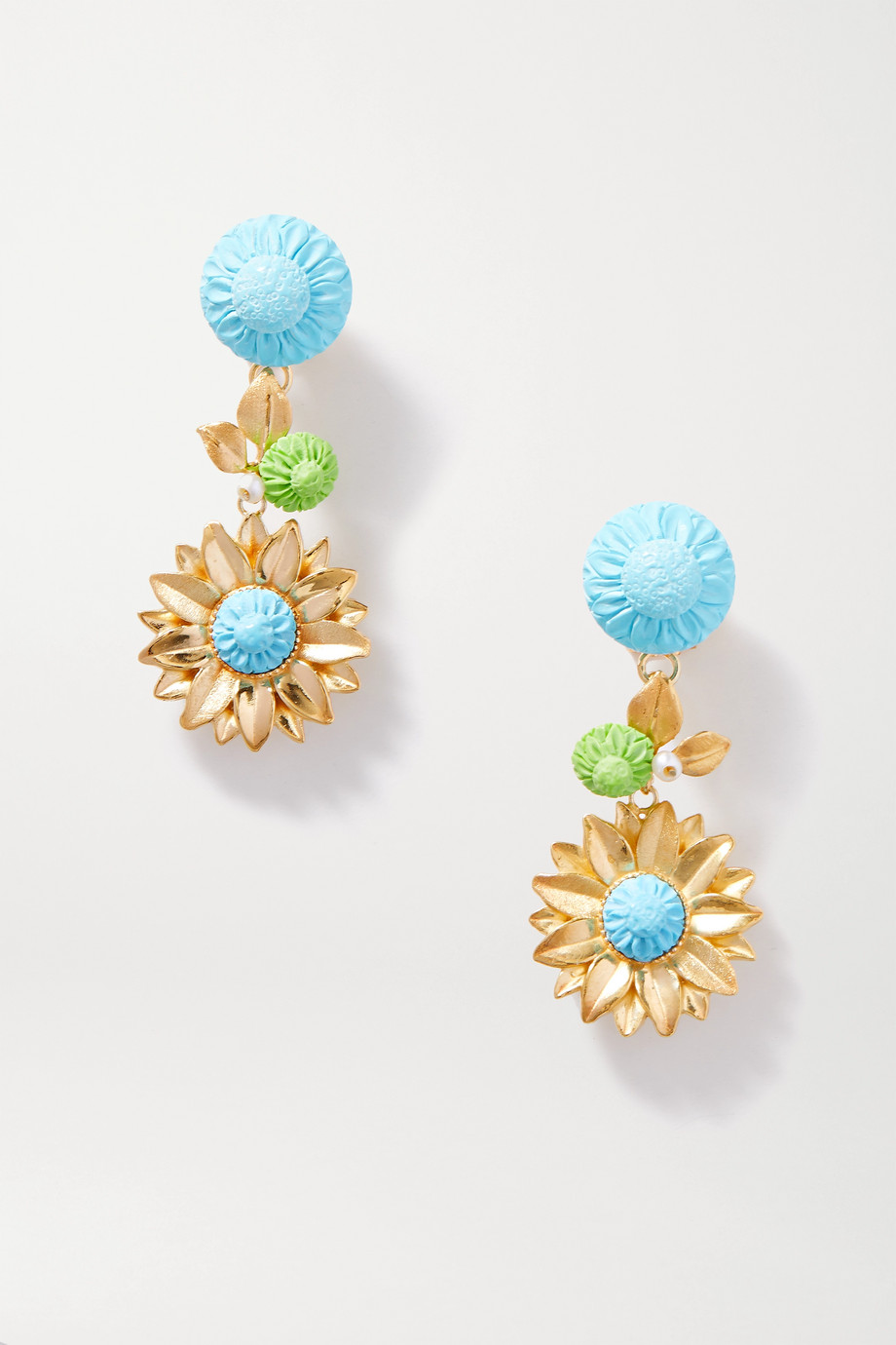 Of Rare Origin The Limoncello gold vermeil multi-stone earrings