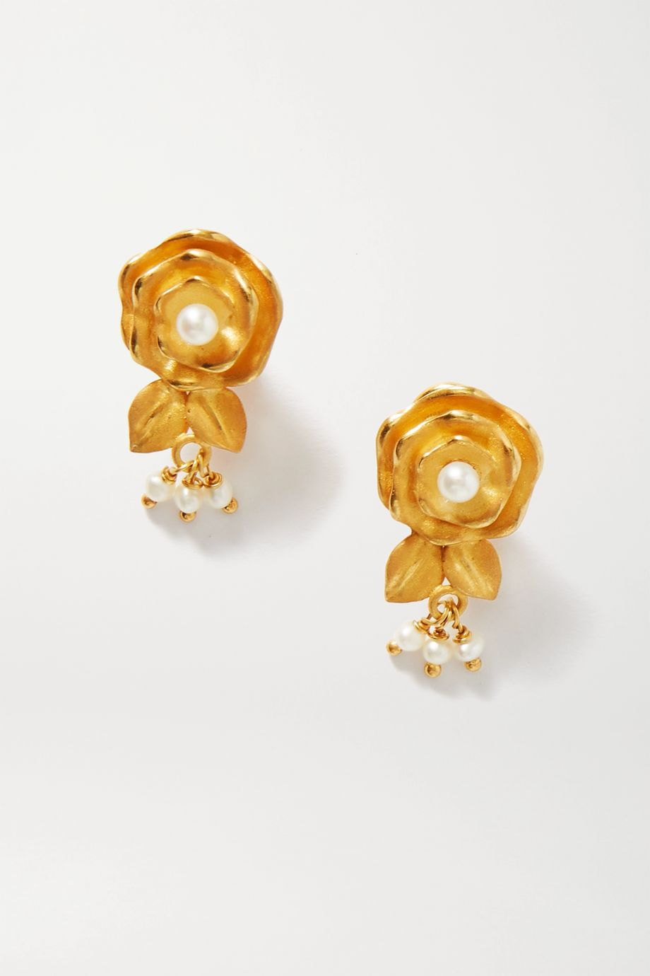 Of Rare Origin The Spritz gold vermeil pearl earrings