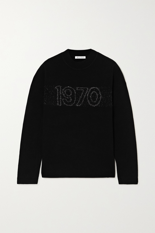 1970 intarsia wool blend sweater