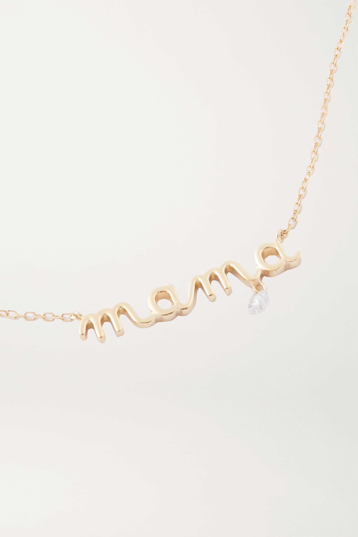 Persée Mama 18-karat gold diamond necklace