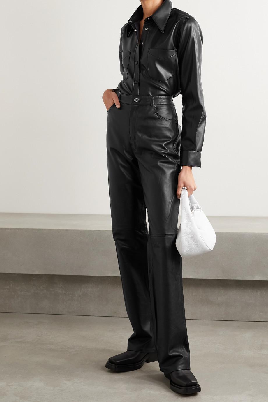 AGOLDE Paloma 纯素皮革衬衫