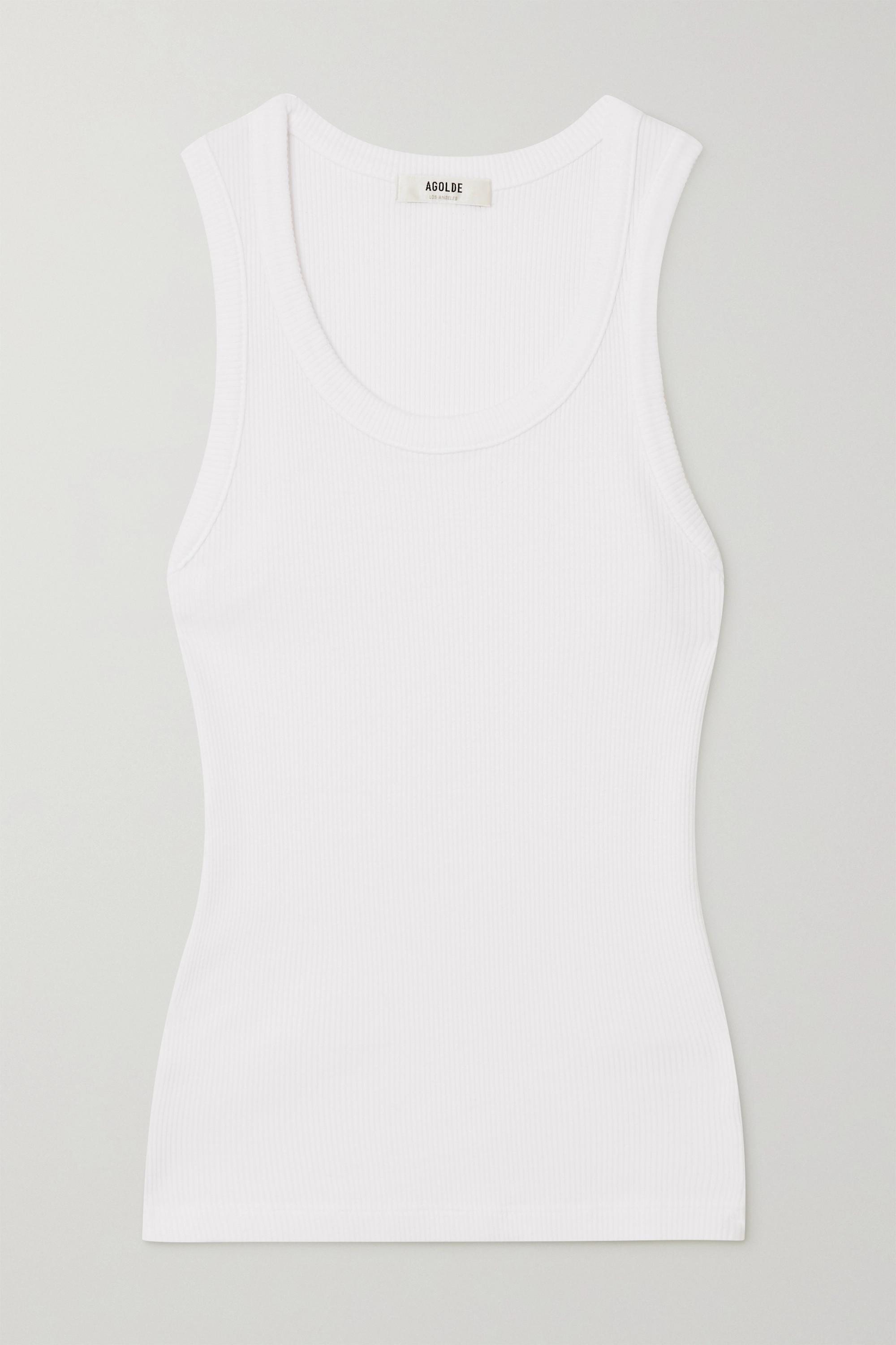 AGOLDE Poppy ribbed stretch organic cotton and Tencel-blend jersey tank