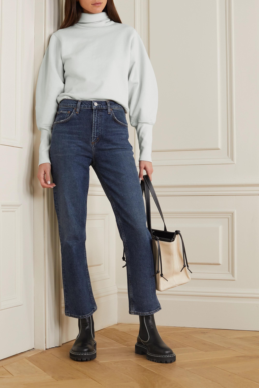 AGOLDE Sweatshirt aus Baumwoll-Jersey mit Rollkragen
