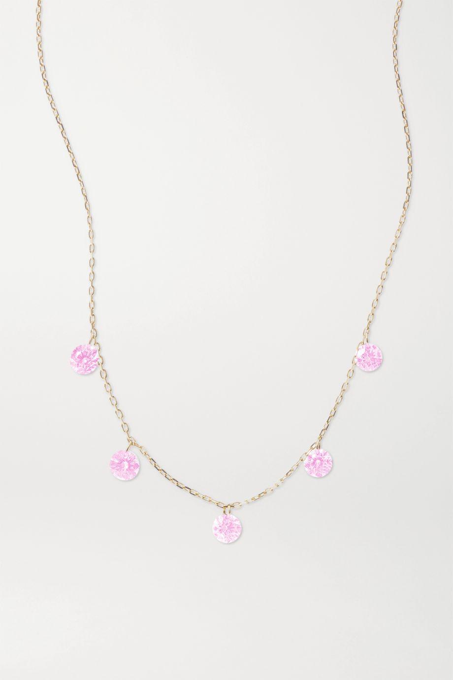 Persée La Vie en Rose gold sapphire necklace