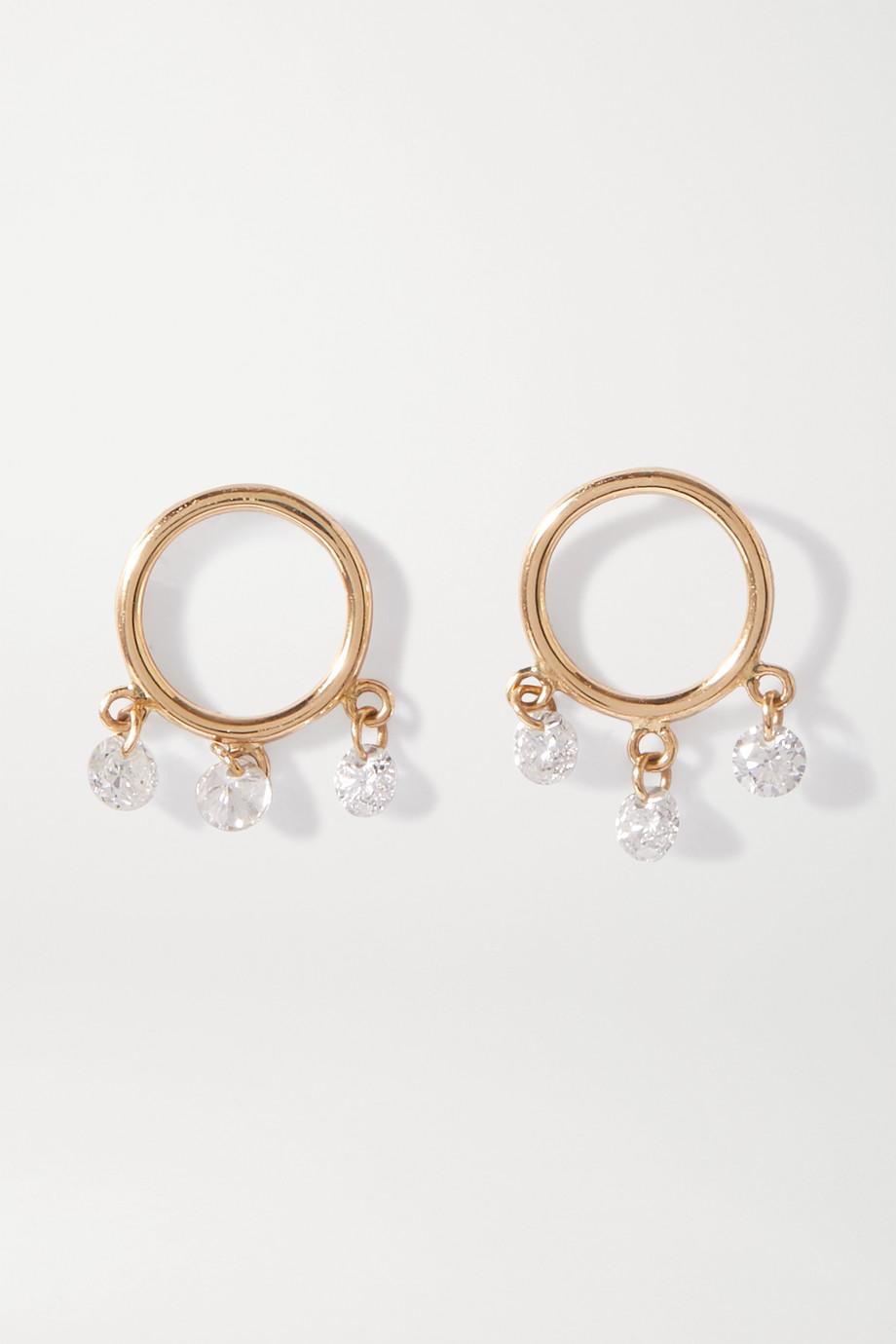 Persée Bohème Ohrringe aus 18 Karat Gold mit Diamanten