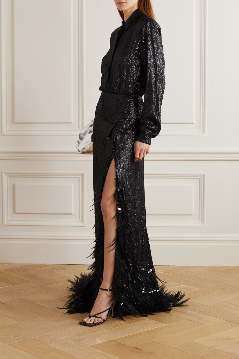 Dries Van Noten Sequined chiffon shirt