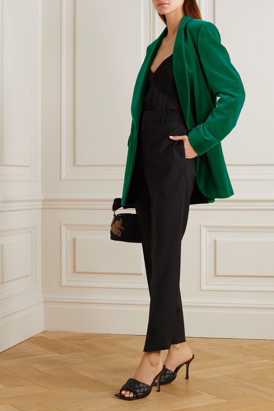 Dries Van Noten Blancho cotton-velvet blazer