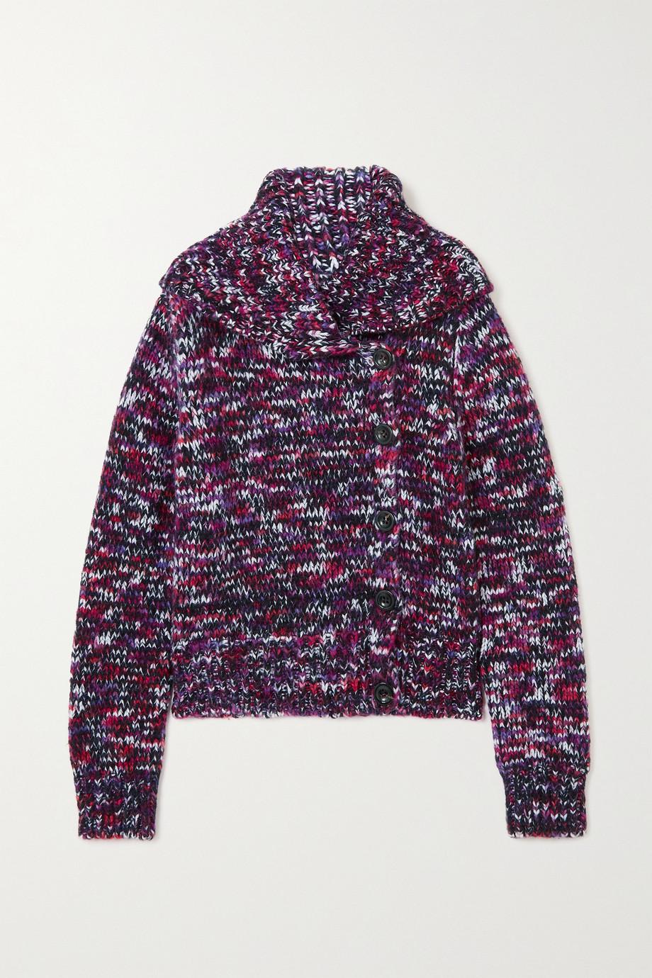 Dries Van Noten Mélange merino wool-blend cardigan