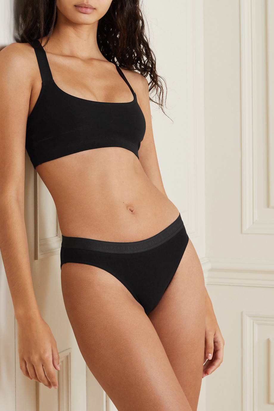 Balmain Stretch-cotton jersey soft-cup bra
