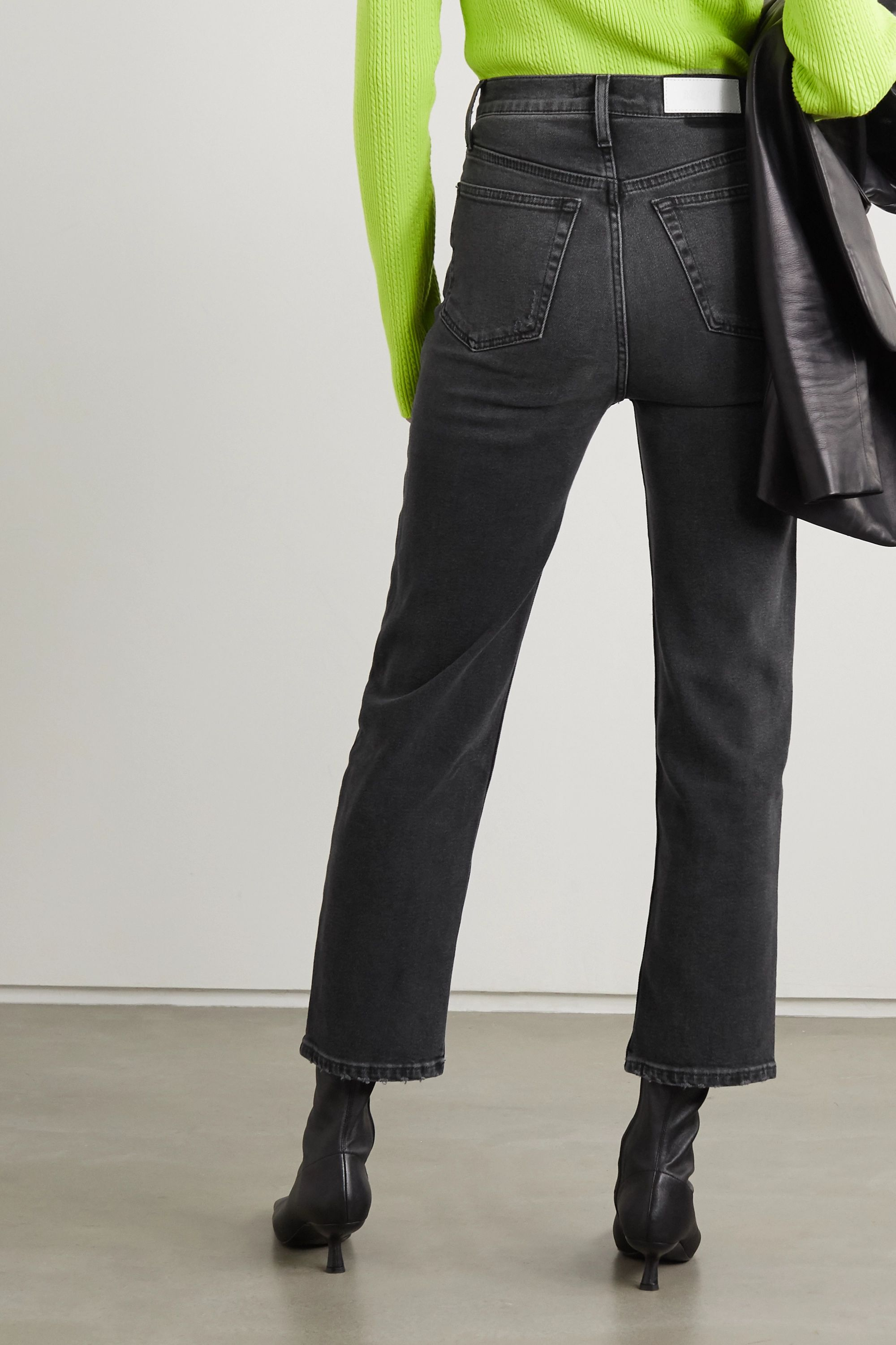 RE/DONE 70s Stove Pipe cropped high-rise straight-leg jeans
