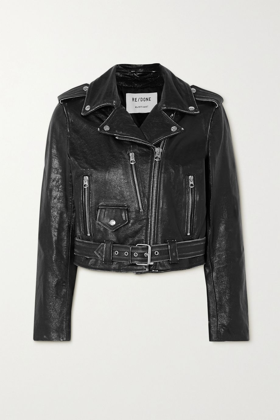RE/DONE Distressed leather jacket