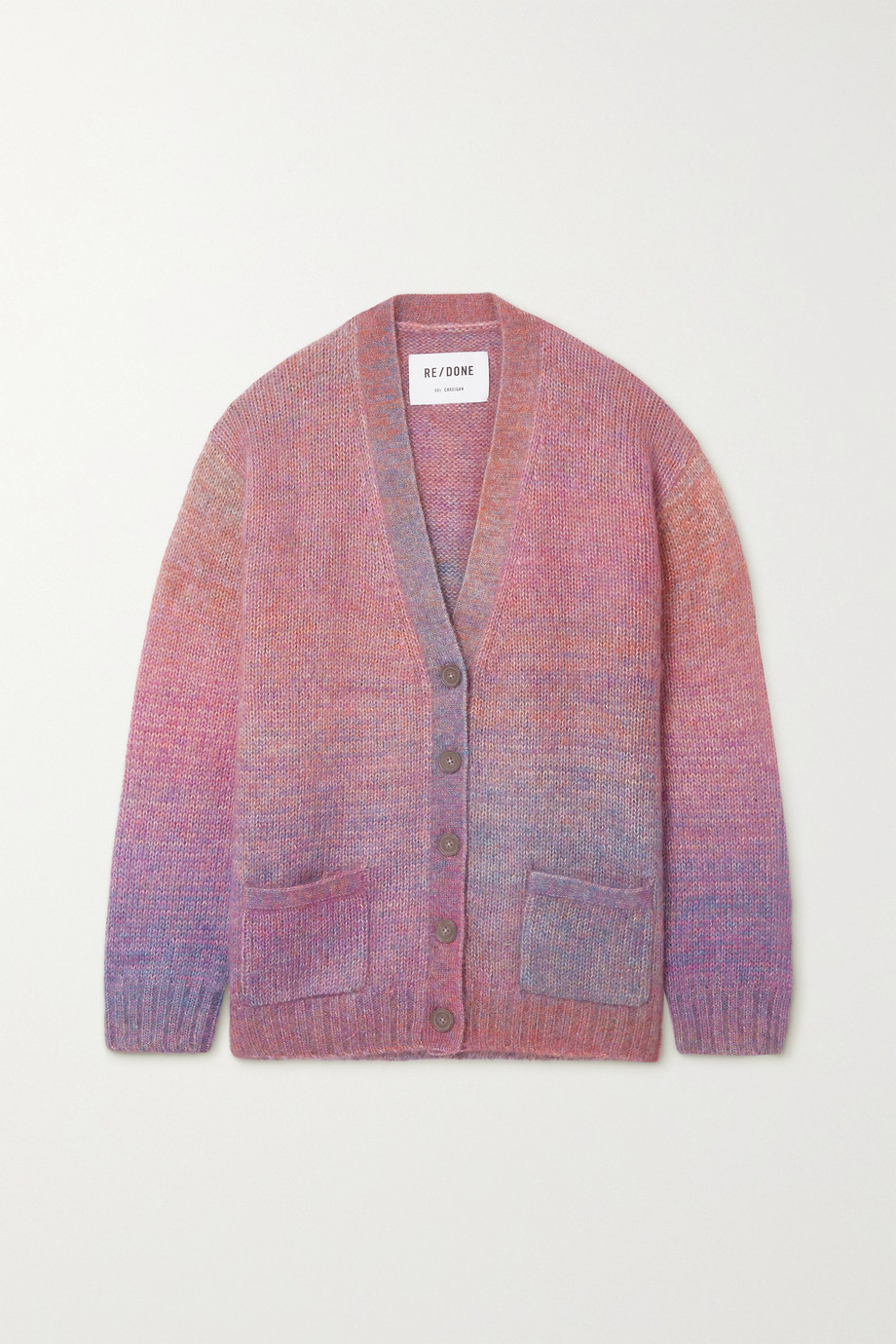 RE/DONE 90s space-dyed knitted cardigan