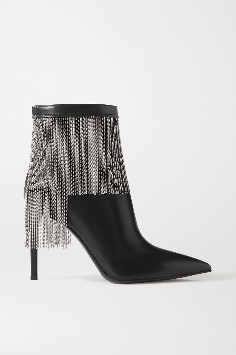 Balmain Mercy fringed leather ankle boots