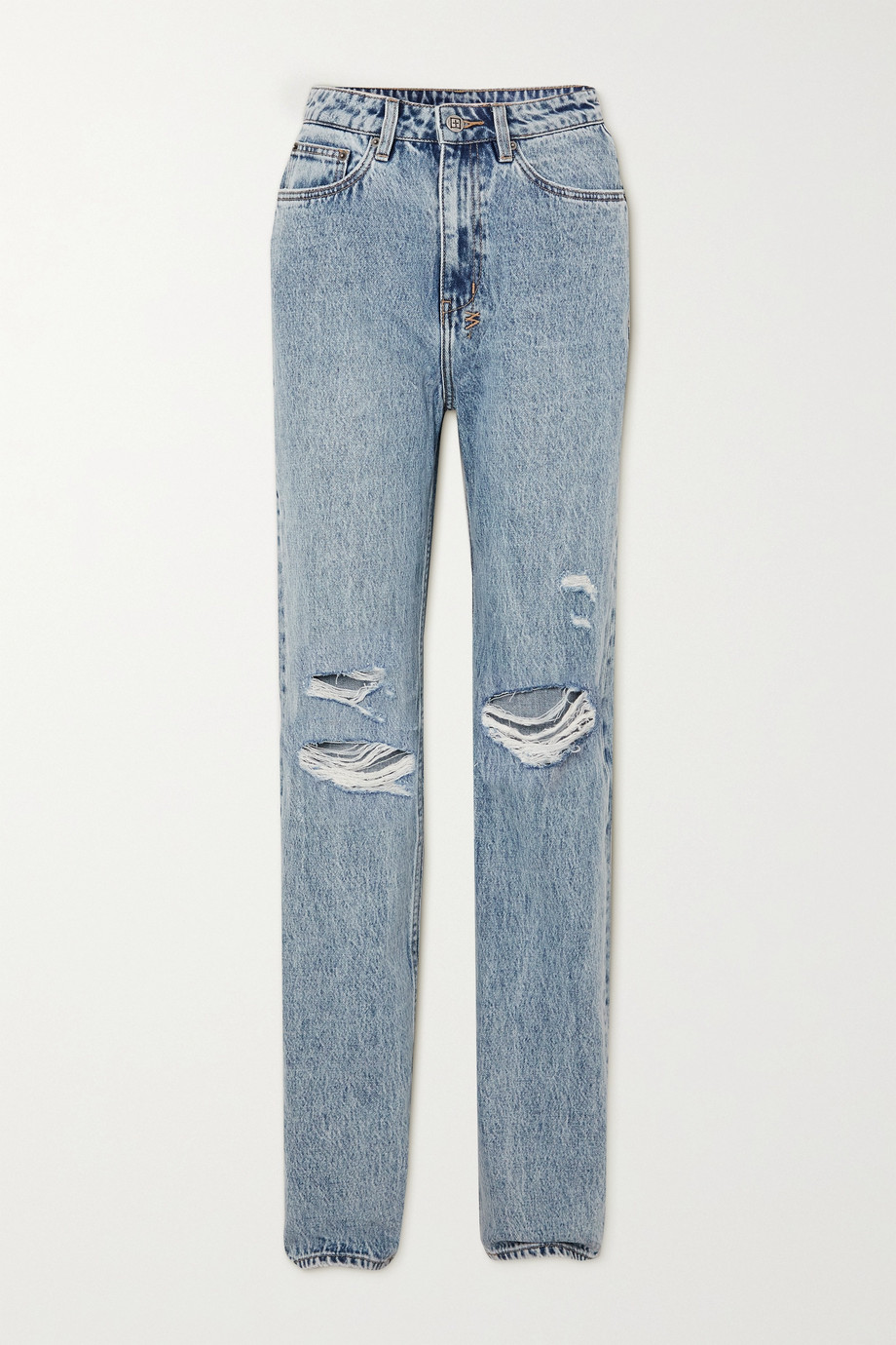 Ksubi Playback Vibez Trashed hoch sitzende Jeans in Distressed-Optik