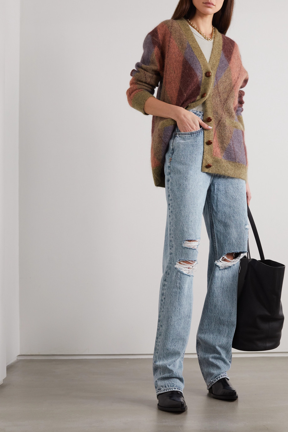 Ksubi Playback Vibez Trashed distressed high-rise jeans