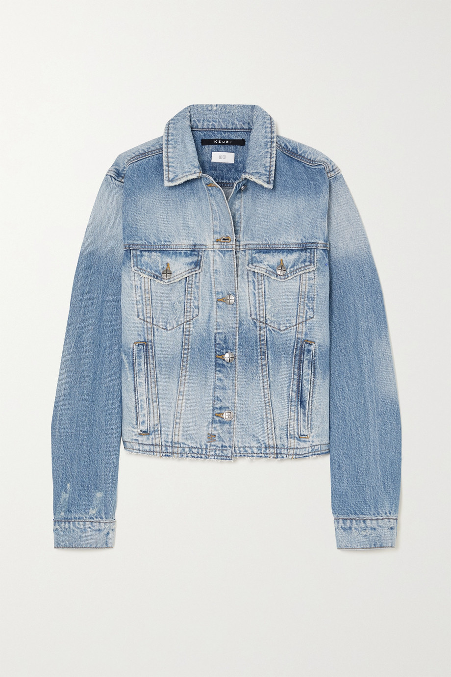 Ksubi Tour Jeansjacke in Distressed-Optik