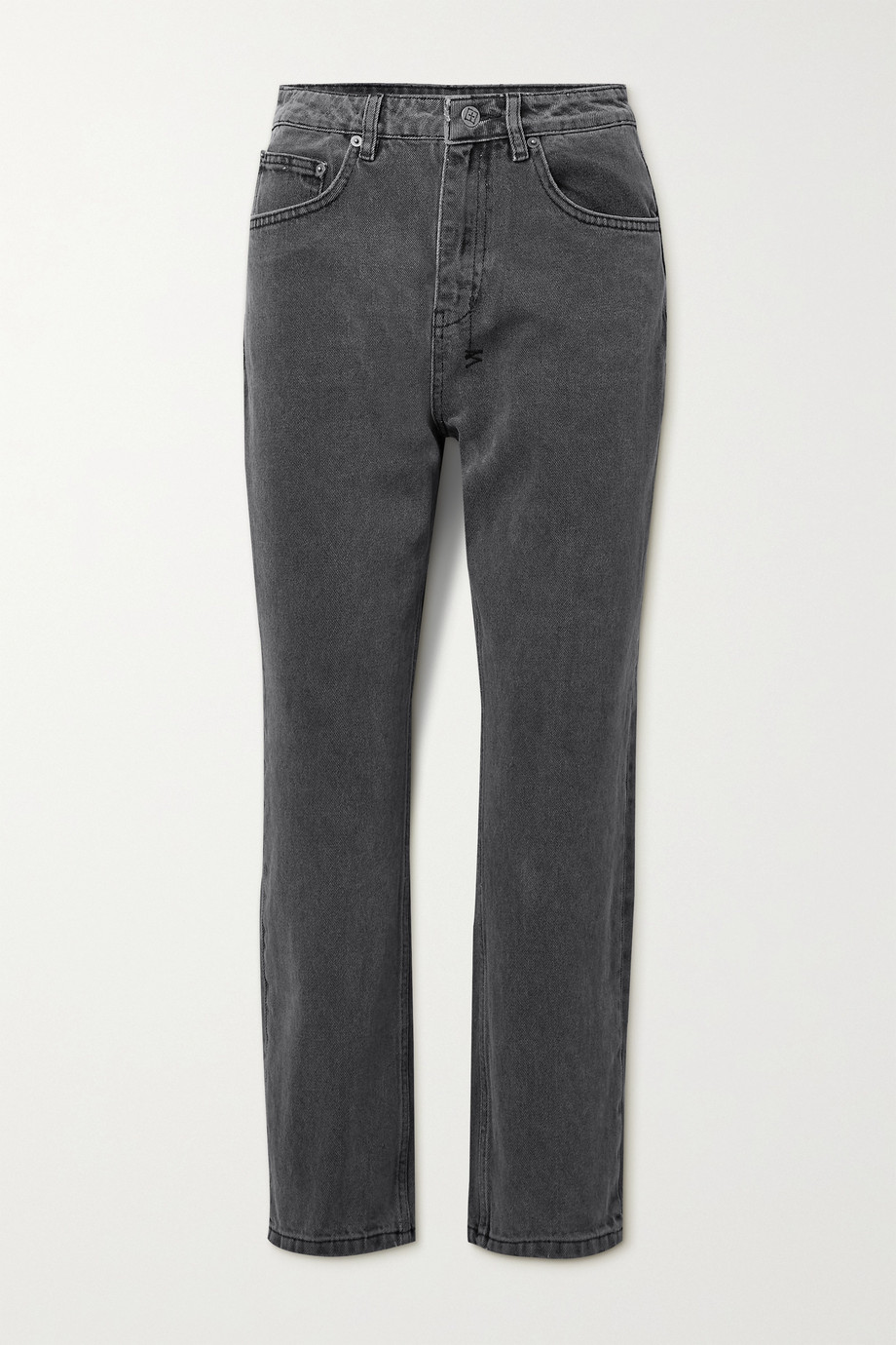 Ksubi Chlo Wasted cropped high-rise straight-leg jeans