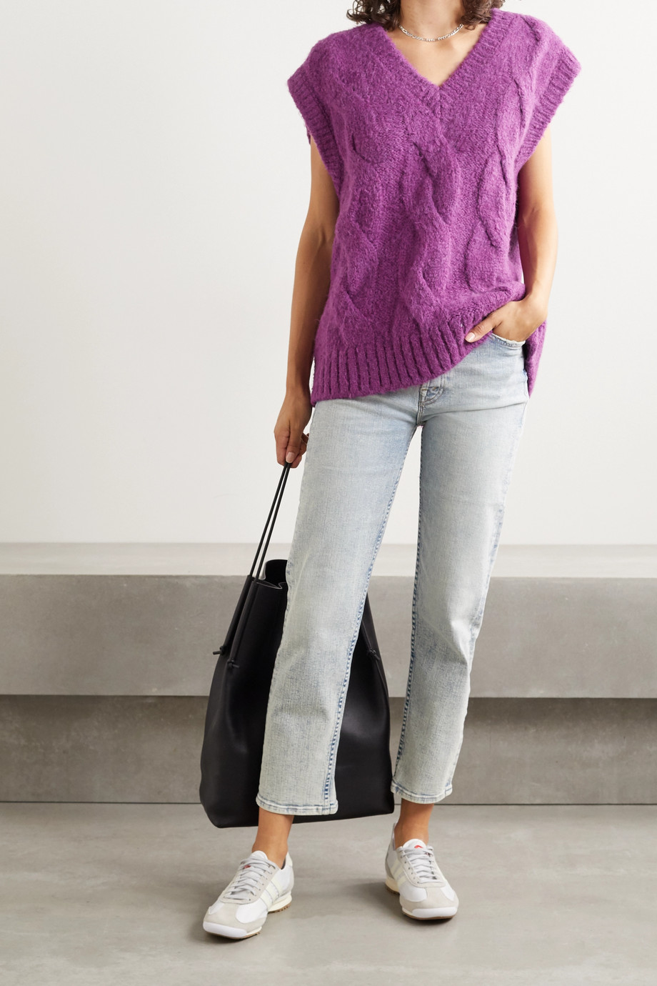 Mother The Tomcat high-rise straight-leg jeans