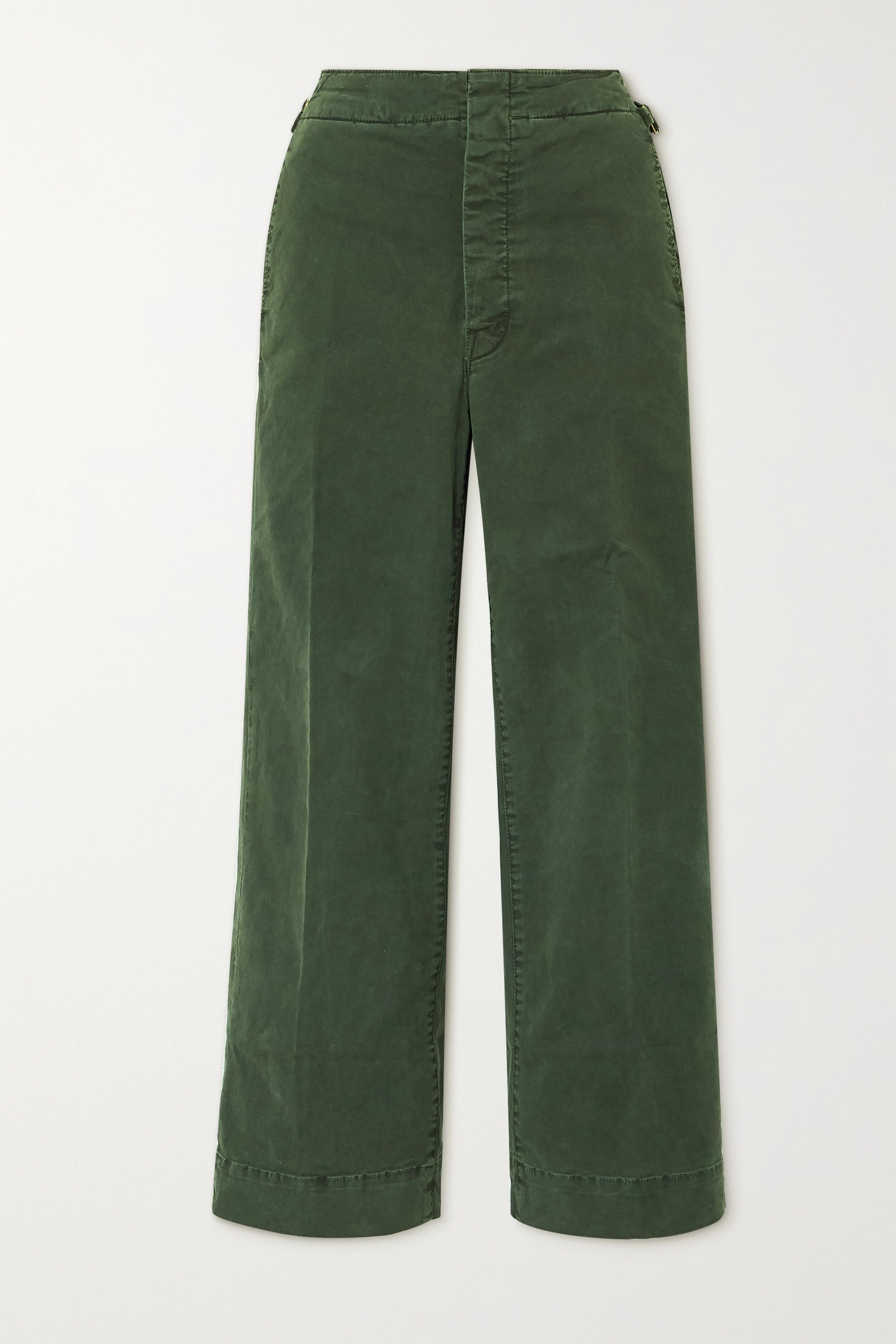 Mother The Cinch Greaser cropped cotton-blend wide-leg pants
