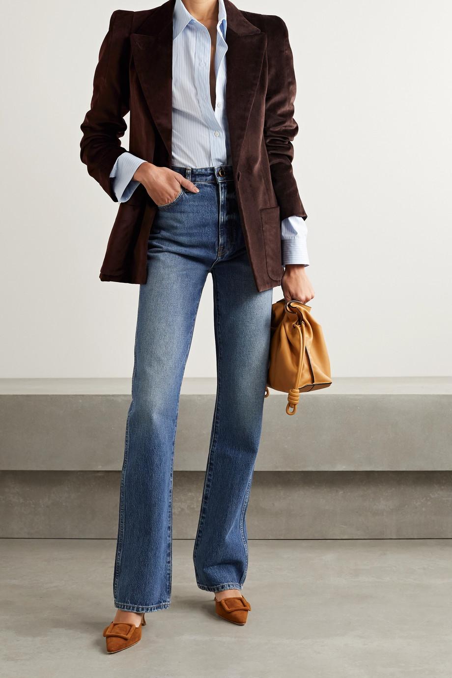Anna Mason Blazer en velours de coton