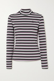 adidas Originals Striped stretch-cotton jersey top