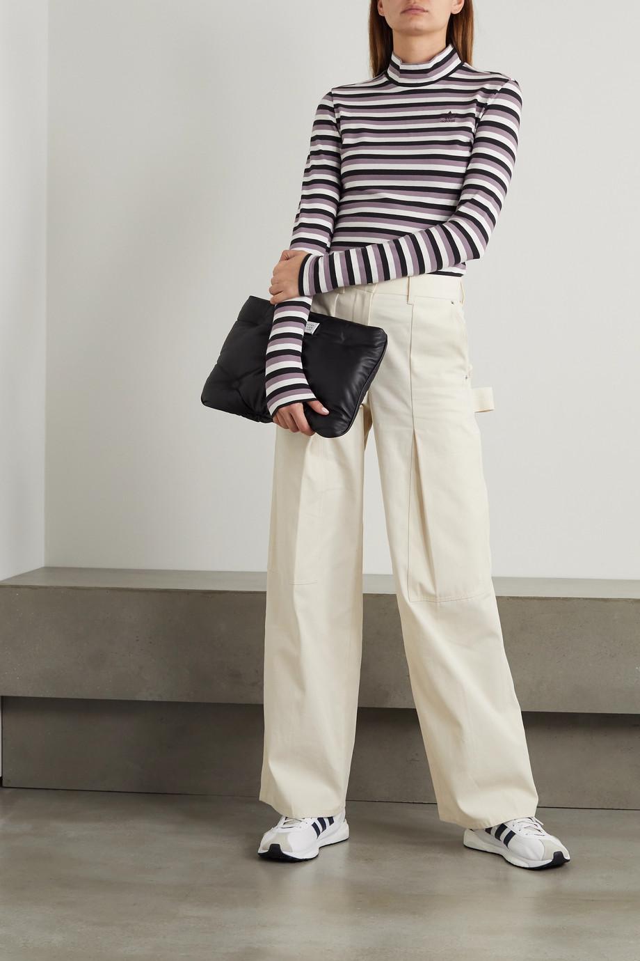 adidas Originals Striped stretch-cotton jersey top