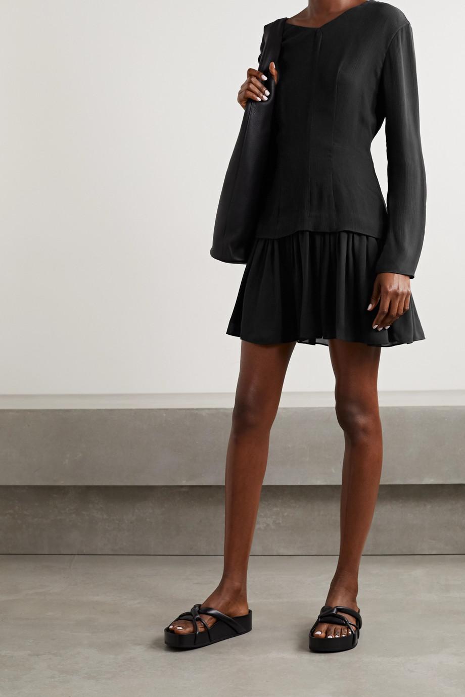 TOVE Iris silk-crepon and georgette mini dress