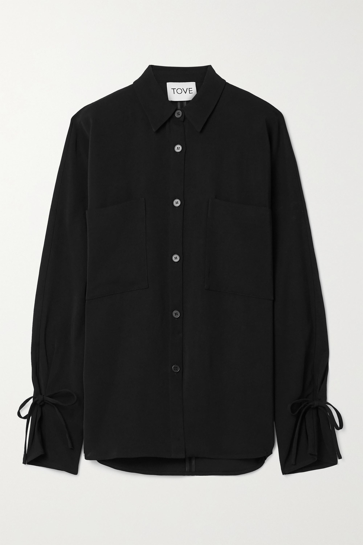TOVE Francoise twill shirt