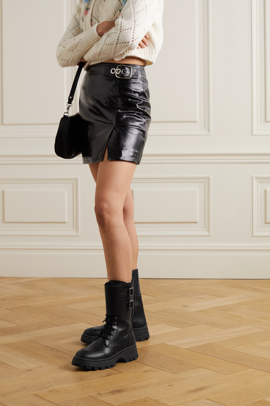 Miu Miu Buckled leather boots