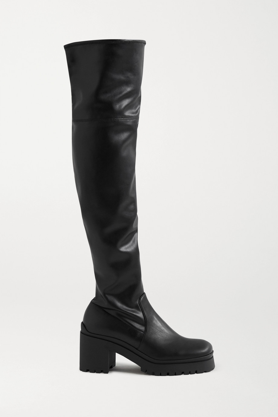 Miu Miu Leather platform over-the-knee boots